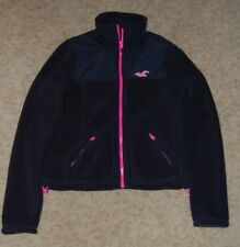 Hollister Co SoCal Oceanside Full Zip Fleece Jacket Women's XS Black NWT