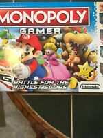 "NIB!!~Monopoly ""Gamer"" Nintendo Mario Bros Battle for the Highest Score ByHasbro"