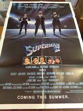 SUPERMAN II 1980 ORIGINAL MOVIE POSTER DC COMICS CHRIS REEVE ADVANCE TEASER