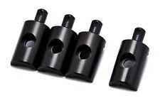 PrecisionGeek Replacement Lunchbox Black Aluminium Body Mounts 4Pcs fits Tamiya
