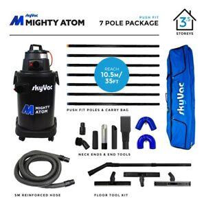 SkyVac Mighty Atom Wet & Dry Gutter Cleaning Vacuum 10.5 metres (34 feet) Reach