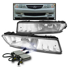 2002-2003 ACURA TL CHROME FRONT BUMPER FOG LIGHTS DRIVING LAMP CLEAR+10K HID KIT