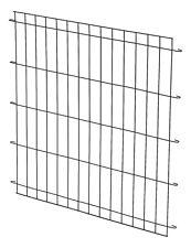 Midwest 24in Dog Crate Dividing Panel, Black (Model 1524DPN)