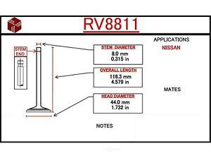 Intake Valve ITM Engine Components RV8811