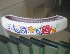 POOLE POTTERY FLOWER CRESCENT-FLORAL & BIRD  DESIGN-vgc   *