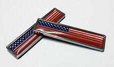 2Pcs American USA Flag Car Emblem Logo Sticker Badge Decals Opel WV BMW Porsche