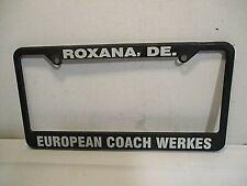 European Coach Werkes   License Plate Frame