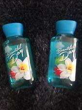 2 Bath & Body Works BEAUTIFUL DAY Travel Size Mini Body Wash Shower Gel