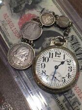 Hamiltion 992 21J 1926 Railroad Pocket Watch 14k Gf Wadsworth 4 Coin Watch Fob