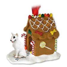 Bull Terrier Dog Ginger Bread House Christmas Ornament