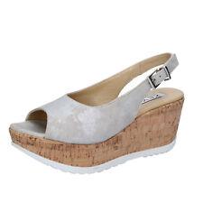 scarpe donna KEYS 39 EU sandali beige grigio camoscio BZ868-F