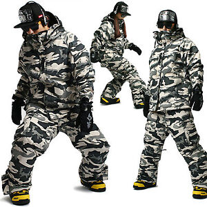 Mens Ski Snowboard Jumper Blazer Jacket Coat + Trousers Pants Suits SET-04