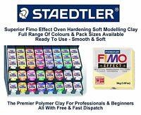 Staedtler Fimo Effect Polymer Modelling Moulding Clay Blocks 37 Colours 56G