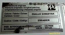 Fiat punto gt adesivo colore ppg GIALLO GINESTRA 258aber