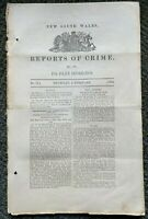 1862 New South Wales REPORTS OF CRIME armed attack, RARE, free EXPRESS W/W