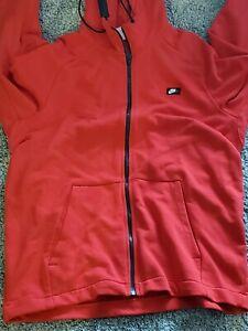 Nike Men's Hoodie/Jacket Full Zip red Swoosh Logo Front  Size XXL(display)