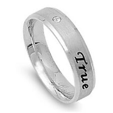 TRUE LOVE WAITS Purity Band Ring w/Cubic Zirconia  ~  NEW!