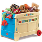 Step2 Lift & Roll Toy Box Kids Storage Chest Bins Organizer
