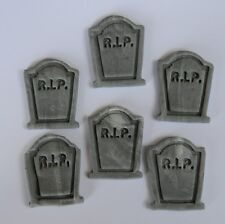 12 edible 3D GRAVE TOMBSTONE over the hill HALLOWEEN cake topper CUPCAKE