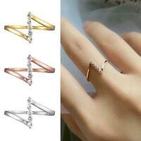 Frauen geometrische Alphabet Stern Diamant Ring Schmuck Mode einfache R2T0