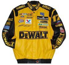 Size 3XL Nascar  Dewalt  Matt Kenseth Leather Jacket New JH Design XXXL