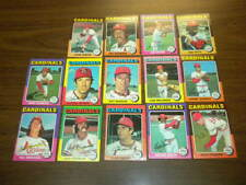 14 ST. LOUIS CARDINALS 1975 Topps Baseball Cards TEAM lot NICE!