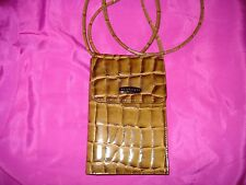 APOSTROPHE CROCO EMBOSSED SMALL PURSE WALLET WITH STRAP SO CUTE SUPER SALE!