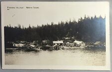Original c. 1920 FISHING VILLAGE MINNESOTA Postcard LAKE SUPERIOR North Shore