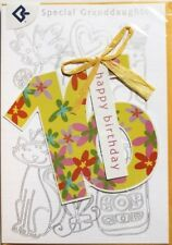 Special Granddaughter happy 16th Birthday greeting card, female, brand new