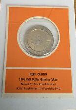 Reef Casino Half Dollar Gaming Token Coin Medal Casino Chip