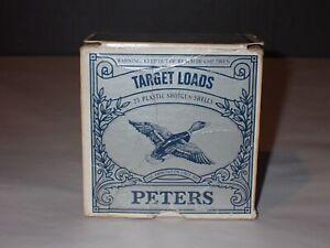 Vintage Peters 12ga Shotgun Shell Box Empty