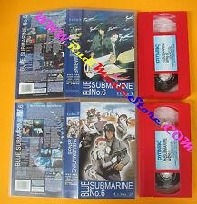 2 VHS film BLUE SUBMARINE NO.6 Echo 1  2 2001 animazione DYNAMIC (F115) no dvd