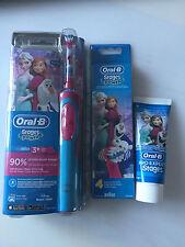 Braun Oral-B Zahnputz-Set: Akku-Zahnbürste+4er Pack Aufsteckbürsten+ Zahncreme
