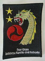 Ray Glass Isshinryu Karate and Kobudo Embroidered Patch -new