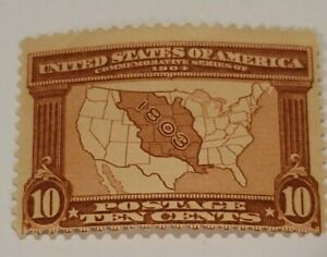 Scott#: 327 - Map of Louisiana Purchase MLH OG