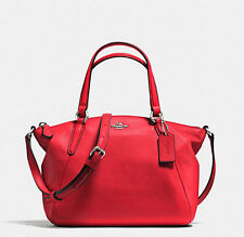 coach MINI KELSEY SATCHEL IN PEBBLE LEATHER 57563 RED NWT
