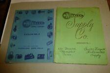 Weakley Supply Co. lot of 2 vintage 1940s catalogs Memphis TN Locksmith/keys