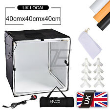 16'' Square Photo Studio Soft Box tent Led Light 3x Background Backdrop Kit 40cm