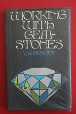 *RARE* WORKING WITH GEMSTONES by V. A. Firsoff - Ex Library (HC/DJ, 1974)