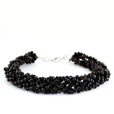 117.00 CTS NATURAL RICH BLACK SPINEL UNTREATED FACETED BRACELETS - PARTY WEAR