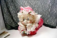 """Dreamsicles Danbury Mint """"Stocking Surprise� Porcelain Bisque Cherub Hp Rare Ob"""