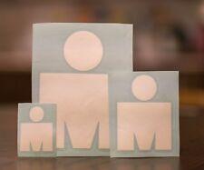 M-Dot Ironman 140.6 vinyl stickers set 3pcs White
