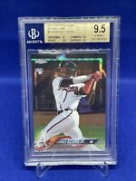 2018 Topps Chrome Ronald Acuna Jr. Rookie Silver Refractor Card #193 BGS 9.5 RC