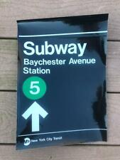 NY City Transit Baychester Avenue Station Sticker Sign 5 Train Bronx Subway