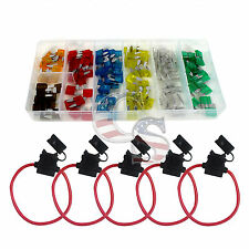 5 Pack Fuse Holder &120 mini Blade Assortment Car Truck Motorcycle Kit ATC ATO