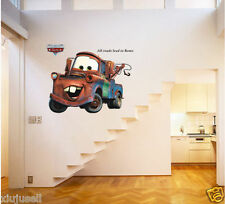 Mater Vinyl Wall Stickers for Kid Room Wall Decals Home Decor Disney Racing Cars