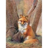 5D Full Drill Diamond Painting Fox Embroidery Cross Crafts Kits DIY Decors Gifts