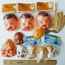 Vintage Doll making craft Heads faces Hands Darice Angel Wang's parts