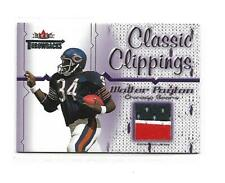 2002 Fleer Throwbacks Classic Clippings Walter Payton 3 Color Jersey Patch Bears