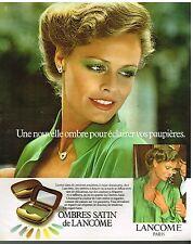 Publicité Advertising 1978 Cosmétique Maquillage Ombres à paupières de Lancome